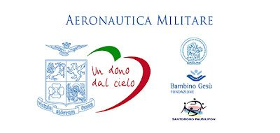 """""""Un dono dal cielo"""", l'Aeronautica Militare con l'Ospedale Bambino Gesù per ridurre i danni neurologici"""